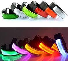Geshiintel <b>LED</b> Light Safety Reflective Belt <b>Strap</b> Snap Arm Band ...