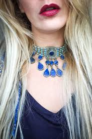 Lapis Lazuli <b>choker</b> - Miss Billy - Embellished <b>vintage</b> fashion and ...