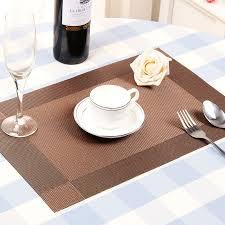 fashion pvc dining table mat pads bowl