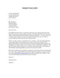 Cover Letter Volunteer Example Cover Letter Volunteer Work ...