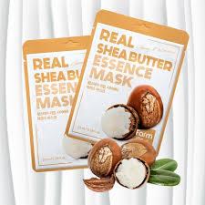 Питательная <b>тканевая маска</b> с маслом ши, FarmStay Real Shea ...