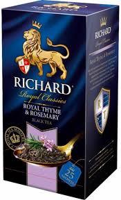<b>Чай Richard</b> Royal Thyme Rosemary <b>черный</b> ароматизированный ...