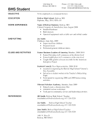 examples of a high school students resume
