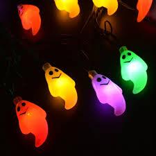 Real Sweety Home <b>Cute Halloween Led</b> String Lights Ghost Skull ...