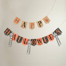 halloween gallery wall decor hallowen walljpg full size of decoration lace halloween garland beige black orange color happy halloween letter skeleton