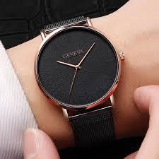 Simple <b>Fashion Luxury Stainless</b> Steel Mesh Quartz Wristwatch ...