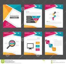 template flyer information for advertising stock vector pink yellow green infographic elements presentation template flat design set for advertising marketing brochure flyer leaflet