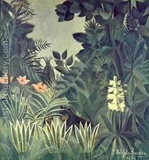 <b>Exotic Landscape</b> | <b>Henri Rousseau</b> | Beach House Decor | Jungle ...