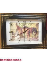 Купить <b>Часы</b>-<b>картина Михаил Москвин</b> «ЗВЕЗДА» Лошади ...