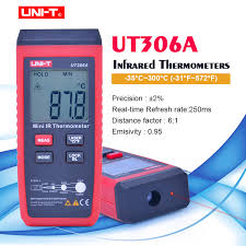 <b>UNI T UT306A</b> Non contact <b>Digital</b> Laser IR Infrared Thermometer ...