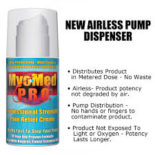 myomed p r o professional strength pain relief myomed p r o myomed p r o professional strength pain relief cream new airless dispenser pump