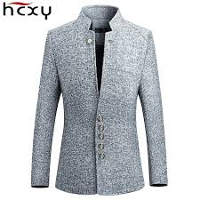 HCXY Blazer Men 2019 spring <b>New Chinese style</b> Business Casual ...