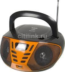 Купить Аудиомагнитола BBK BX193U, черный и оранжевый в ...