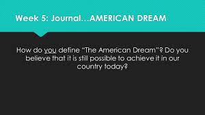sh juniors semester  and annotate wallechinsky s text is the american dream still possible completely on your own