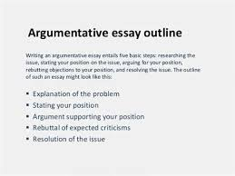 how to write an argumentative essay outline creating argument outlines   mesa community college