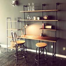 american iron industrial pipe wall shelf computer desk combination of vintage style creative personality bookshelf american retro style industrial furniture desk