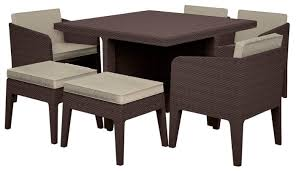 <b>Комплект мебели KETER Columbia</b> (стол, 4 кресла, 2 пуфика ...