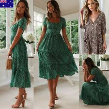 Beach Casual Floral Dresses for <b>Women</b> for sale | eBay