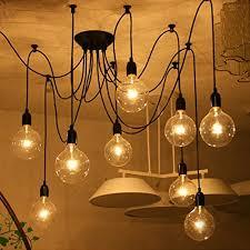lemonbestreg 6 head e27 vintage diy ceiling chandelier adjustable lighting fixtures