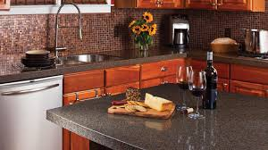 Granite Kitchen Counter Top Modern Small Kitchen Design With Mosaic Backsplash And Grey