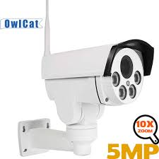OwlCat Outdoor <b>HD</b> 5MP <b>PTZ IP</b> Camera Wifi Two Way Audio SD ...