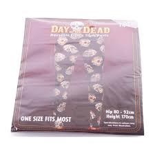 Day of The Dead <b>Halloween Themed</b> Skull <b>Patterned</b> Elastic Tight ...