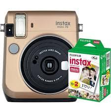 <b>Fujifilm</b> Instax Mini 70 goud + Mini <b>colorfilm glossy</b> 10x2 pak ...