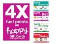 4X Fuel Points on Gift Cards, Visa & Mastercard Gift Cards - Kroger