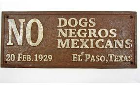 "Image result for ""Africans and dogs not allowed"