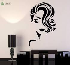 <b>YOYOYU Vinyl Wall Decal</b> Beautiful Face Hair Beauty Salon ...