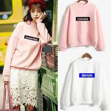 Kpop exo <b>2016 new autumn women</b> college wind woolen jumpers ...