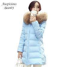 Down coat <b>female slim winter</b> jackets <b>women</b> 2020 new fur collar ...