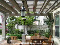 narrow covered patio idea what about narrow pergola between covered patio and open curve