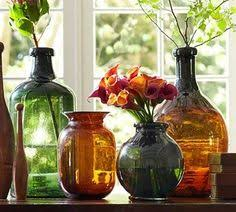 Image result for Pottery Barn colored glass vases