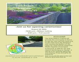 opening ceremonies for trace pitman greenway the 10 00 am ribbon cutting will provide you a chance to see the new trail first hand and to also hear from the designers and community leaders on the