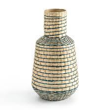 <b>Ваза декоративная</b> из бамбука в42 см, plooming разноцветный ...