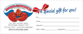 where can i buy a lobster gift certificate dorr lobster co since