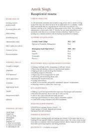 Resume For Hospital Job  secretary job description on resumes         Resume Examples For Receptionist Job Receptionist Resume Sample Dental Receptionist  Resume No Experience Vet Receptionist Resume