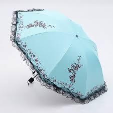 6 Colors Plum <b>Flower</b> Blossom <b>Parasol</b> lace three <b>folding umbrella</b> ...