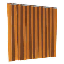Vinyl Strip Door <b>Kit</b> - Amber, 8 x 10' H-<b>3210</b> - Uline