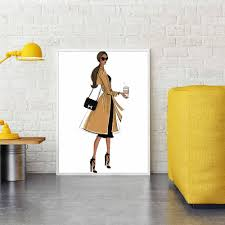 <b>Fashion Cool Girl</b> Canvas Painting Wall Art Feature Posters and ...