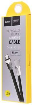 Зарядное устройство <b>Hoco</b> X4 <b>Zinc Alloy</b> Rhombic Micro-USB ...