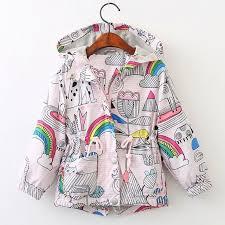 Rainbow Rainy Days <b>Jacket</b> - Olive and Quin