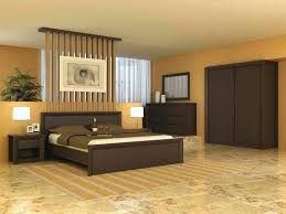 zen colors bedroom design: interior decoration in home with black furniture