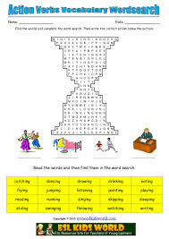 action verbs wordsearch