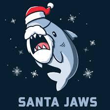 Santa <b>Jaws</b> | Funny, cute & nerdy <b>shirts</b> - TeeTurtle
