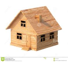 Toy House Made Of Plywood Isolated On White Stock Photos   Image    Toy house made of plywood isolated on white