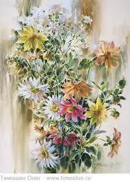 <b>Картина Flower garden</b> | Still life watercolor | Тимошин Олег