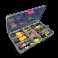 <b>31pcs</b> Colorful Artificial <b>Fishing</b> Lure Kit Metal Hard Spoon Sequins ...