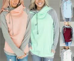 Ladies Autumn Winter <b>Hoodie</b> Sweater <b>Diagonal Zipper</b> Creative ...